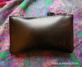 Little pleather storage pouch